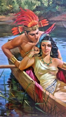 Carolina y Bill in the time of Tenochtitlan