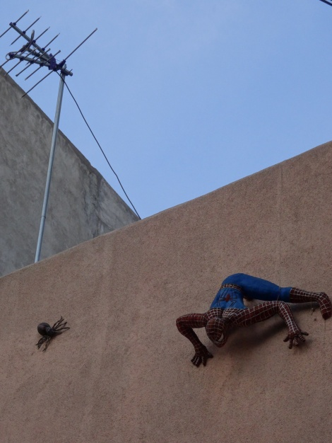 One last photo of Spiderman when leaving Mexico City