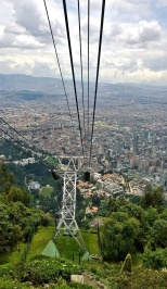 View coming down from the top of Monserrate