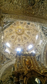 Inside of the chapel dome at Santo Domingo