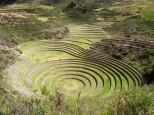 It's thought that these terraces carved into a connected series of naturally formed bowls were used to develop varieties of corn adapted to higher elevations.
