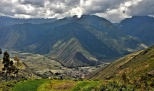 View down into Urubamba