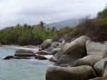 One of many beaches in the Tayrona park