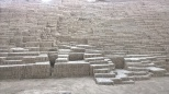 What is left of Huaca Puellana, built by the Lima culture in about 400 AD