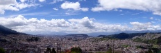 There have to be more than 2 million people in Quito. This picture was taken near the center and only shows the view north. The view south is about the same.