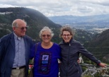 Bob and Marcia showing us the sites in Quito