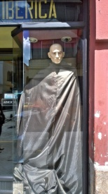 Bill was taken with some of the bizarre mannequins and storefront displays.