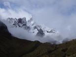 The clouds lifting from Nevado Humantay.