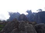 """Sculpture"" on Machu Picchu that mimics the mountains beyond."