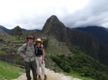 Relieved to be down. Waynu Picchu is in the background.